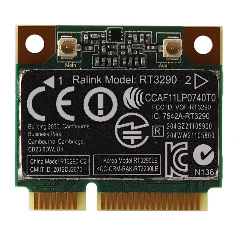 150Mbps 2,4 Ghz RT3290 802.11B/G/N Wlan WIFI inalámbrico + Bluetooth BT 3,0 mitad Mini PCI-E de la tarjeta para HP CQ58 M4 M6 4445 DV4 SG907 SG901 5G GPS Dron profesional plegable con cámara Dual 1080P 4K WiFi FPV gran angular RC Quadcopter, helicóptero de juguete E502S