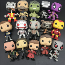 Multiple style movie characters Avengers The hulk Deadpool Collectible Vinyl Figure SpiderMan Spring Head Model Toy