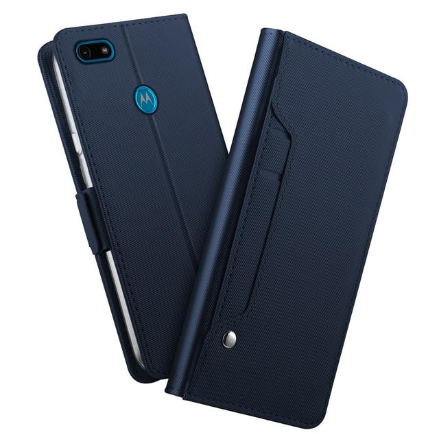 Pour Motorola Moto G8 Play Moto G8 Plus étui en cuir support à rabat portefeuille avec couvercle miroir pour Motorola Moto E6 jouer étui fente pour carte
