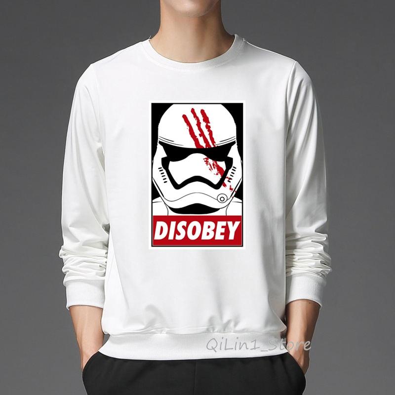 Cool Star Wars Disobey Design Men Women Long Sleeve Tracksuit Mens Hat Sweatshirt Unisex Hoodie Hip Hop Rock Moletom Streetwear