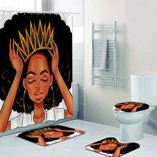 Африканские и американские женские занавески для душа с короной