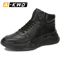 Fashion Genuine Leather Men Boots High Top Waterproof Boots Men Zapatos Invierno Hombre Lace up Work Shoes Leather Sneakers Man