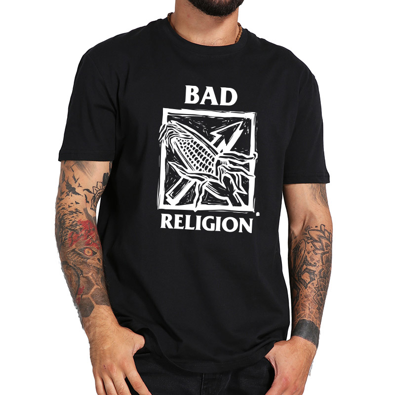 Bad Religion T Shirt Album Against the Grain Tshirt Punk Rock Band Digital Print Pure Cotton Breathable Soft Vintage Tops image