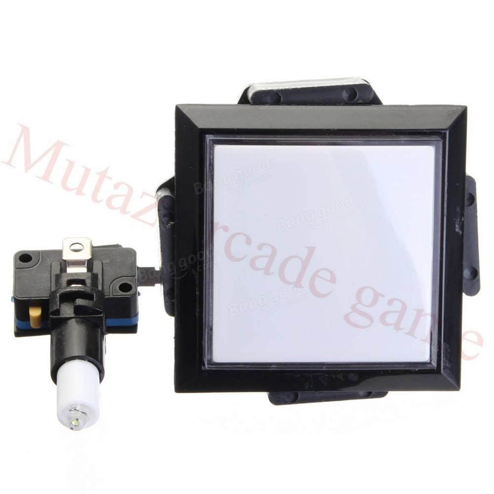 5Pcs Rectangle Arcade Game Machine Part /& LED Light Illuminated Push Button