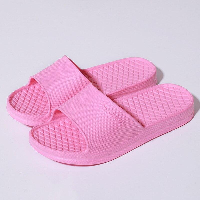 Unisex Home Slippers Summer Indoor Floor Non-slip Slippers Couple Family Women and Men Hotel Bathroom Bath Sandal Slippers 2