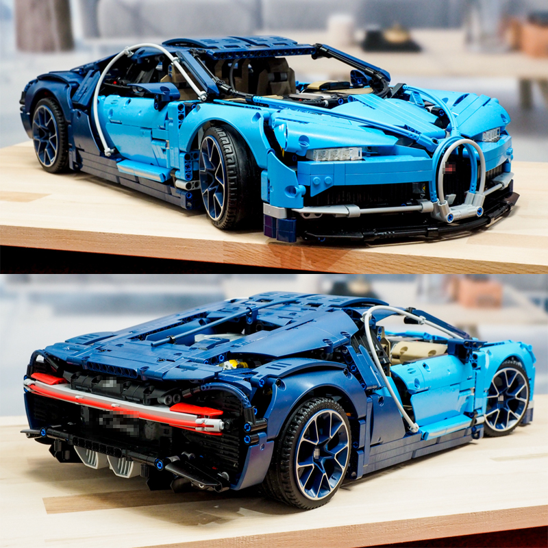 Lepinblocks Bugattied Chiron Racing Car 20086 Compatible With Legoinglys Building Blocks Technic Series Model Bricks 42083 Toys