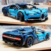 Lepinblocks bugattie chiron carro de corrida 20086 compatível com legoinglys blocos de construção técnica série modelo tijolos 42083 brinquedos