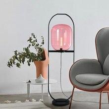 Большая Напольная Лампа большая стеклянная розовое или синее