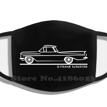 1959 1960 Chevrolet El Camino White On Black Winter Hot Sale Print Diy Masks 59 60 1959 1960 Chevrolet El Camino Chevy El image