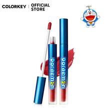 Colorkey doraemon dos desenhos animados de veludo labial glaze gloss líquido batom hidratante lábio maquiagem à prova dwaterproof água de longa duração nutritivo