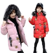 2020 inverno do bebê meninas jaquetas moda impressão com capuz crianças roupas grossas outerwear casaco quente parkas