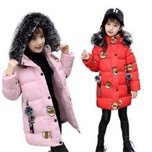 2020 zima dziewczynek kurtki modny nadruk z kapturem dla dzieci odzież dla dzieci grube kurtki ciepły płaszcz parki