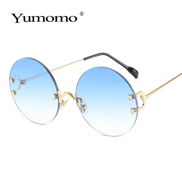 Vintage Round Sunglasses Women Ocean Color Lens Mirror Sun Glasses Female Brand Design Metal Frame Circle Glasses Modis Oculos 3