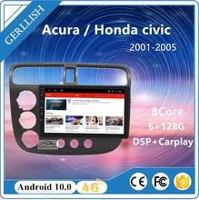 Autoradio Android, Navigation GPS, WiFi, BT, lecteur multimédia Audio/vidéo, pour voiture Acura / honda civic (2001-2004), 2005