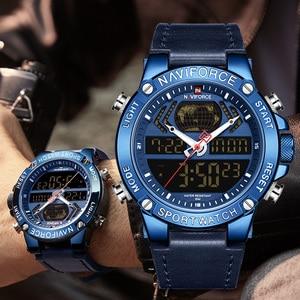Image 4 - Naviforce 男性の腕時計 2019 ブランドの高級デュアルディスプレイメンズビジネス男性腕時計メンズ腕時計メンズ腕時計トップブランドの高級