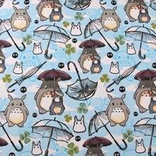 145cm dos desenhos animados totoro gatos e coelhos 100% tecido de algodão para crianças roupas hometextile slipcover capa de almofada diy material