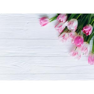 Image 3 - Flowers Wooden Plank Photo Backdrops Vinyl Cloth Backgrounds for Lovers Valentines Day Wedding Photophone Photography Props