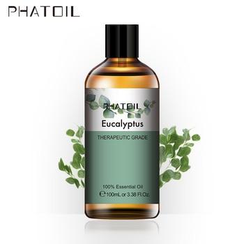 100ml Eucalyptus Essential Oil Diffuser Pure Natural Essential Oils Rose Lavender Jasmine Vanilla Mint Shea Butter Tea Tree Oil недорого