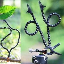 Pinza de brazo mágico doble para Macro shot, herramientas de fotografía Macro de flores, 60cm de longitud