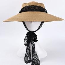 Hats Straw-Hat Raffia Lace-Up Black Designer Women Beach-Vacation Girls Summer Dolphin