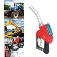 OOTDTY Digitale Kraftstoff Pistole Flow Meter Diesel GasolineTransfer Automatische Reise Gas Stationen Rot|Durchflussmesser|Werkzeug -