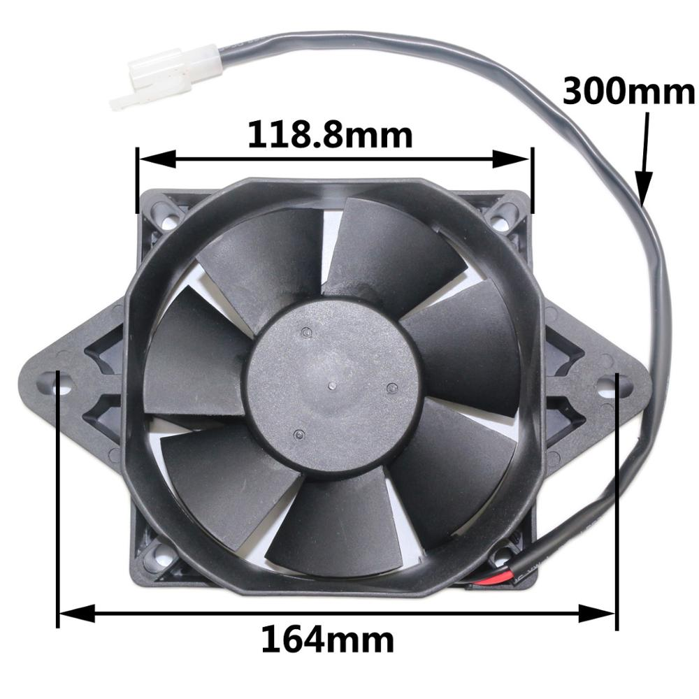 Radiator Thermo Electric Cooling plastic Square Fan for 150cc <font><b>300cc</b></font> 250cc <font><b>Quad</b></font> Dirt Bike image