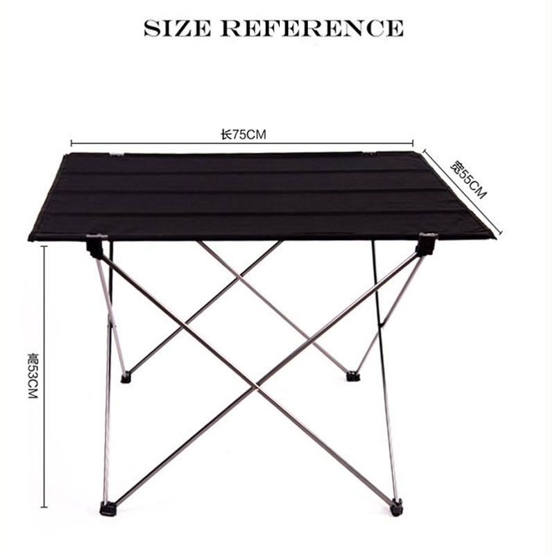 Outdoor Ultralight Portable Folding Desk Aluminum Alloy Table For Fishing Picnic Durable Folding Table Desk