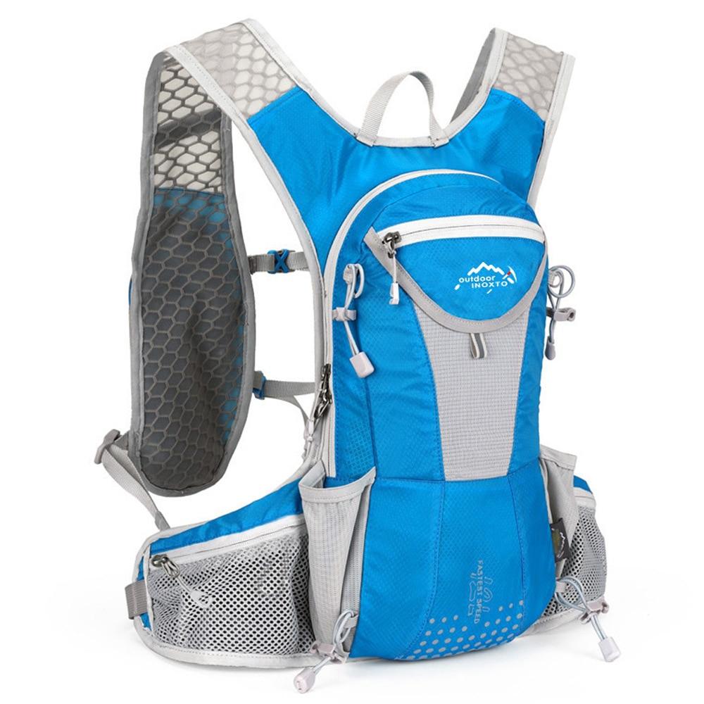 12L Nylon Vest Running Backpack Sports Hydration Cycling Marathon Trail portable Men Women Bag Waterproof Run Fitness rucksack