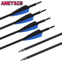 6/12/24pcs Archery Carbon Arrows 30 Hunting Arrow Spine 500 Replaceable Broadhead For Shooting Accessories