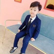 Children Formal Dress Suits Set Flower Boys Wedding Party Hoset Performance Cost