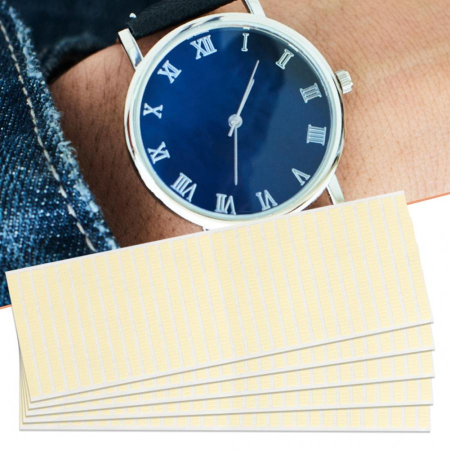 5pcs Watch Dial Sticking Spots Movement Repairs Adhesive Pads Tape Watchmaker Tool Double-sided Tape Watch Repair Accessories | Repair Tools & Kits