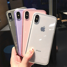 Colorful Transparent Anti-shock Frame Phone Case For iPhone 11 Pro Max X XS XR 8 7 6 6S Plus Soft TPU Protection Back Cover