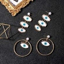 LEGENSTAR Fashion Eye Shape Stud Earrings For Women Rhinestone Trendy Ear Jewelry Earings Oorbellen Boucle doreille Femme 2019