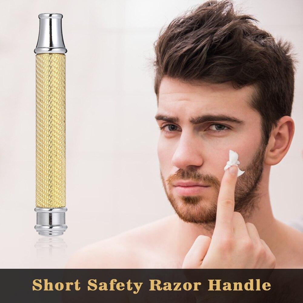 Mini Short Safety Razor Handle Razor Handlebar Two Colors Stainless-steel Razor Handle