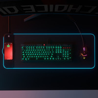 LED Licht Gaming Maus Pad Große Tastatur Nicht-Slip Basis Büro Schreibtisch Matte PC Spiel Maus Pad Mit 15W Drahtlose Ladegerät für iPhone