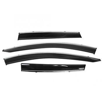 4pcs Car Window Rain Visor Guard Vent Shade Accessory Fits for Nissan Murano 2015-2019 Window Visor Car Accessories
