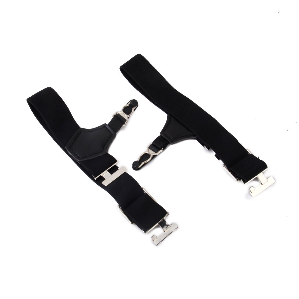 Pair Mens Sock Suspenders Garter Hold Up Braces Elastic Clip Grip Adjustable