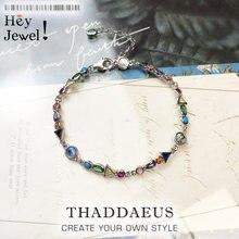 Bracelets A Journey to Paradise en argent Sterling 2020, chaîne à maillons colorés, bijoux à la mode, cadeau d'inspiration Boho pour femmes, nouvelle collection 925