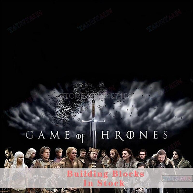 Blocks Game of Thrones Season 8 Figure Night King Daenerys Arya Star Jon Snow Varys Jaime Ice And Fire Locks Toys Rings Soldier(China)