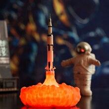 2019 Nieuwste Dropship 3D Print Saturn V Lampen Oplaadbare Nachtlampje Apollo 5 Voor Maan Land Ruimte Lover Als Kamer decoratie