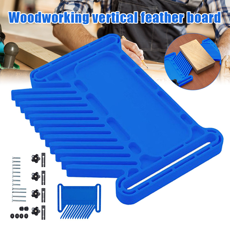 Woodworking Vertical Feather Board Multi-function Woodworking Board Carpenter Auxiliary Small Tool Flip Engraving JA55