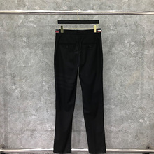 2021 Fashion TB THOM Brand Pants Men Casual Suit Pants Wool Cotton Black Business Striped Spring And Autumn Formal Trousers ins