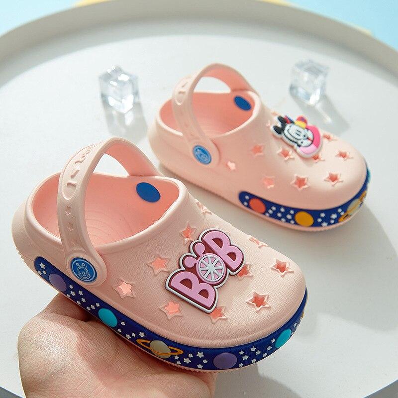 Kids Slippers Baby Slippers Girls Shoes Boys Sandals Children House Slippers 2 In 1 Shoes Super Light EVA Cartoon Shoes Slipper