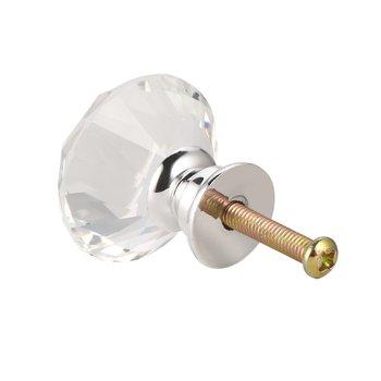 цена на Diamond Clear Crystal Glass Door Pull Drawer Cabinet Furniture Accessory Handle Knob Screw  Worldwide