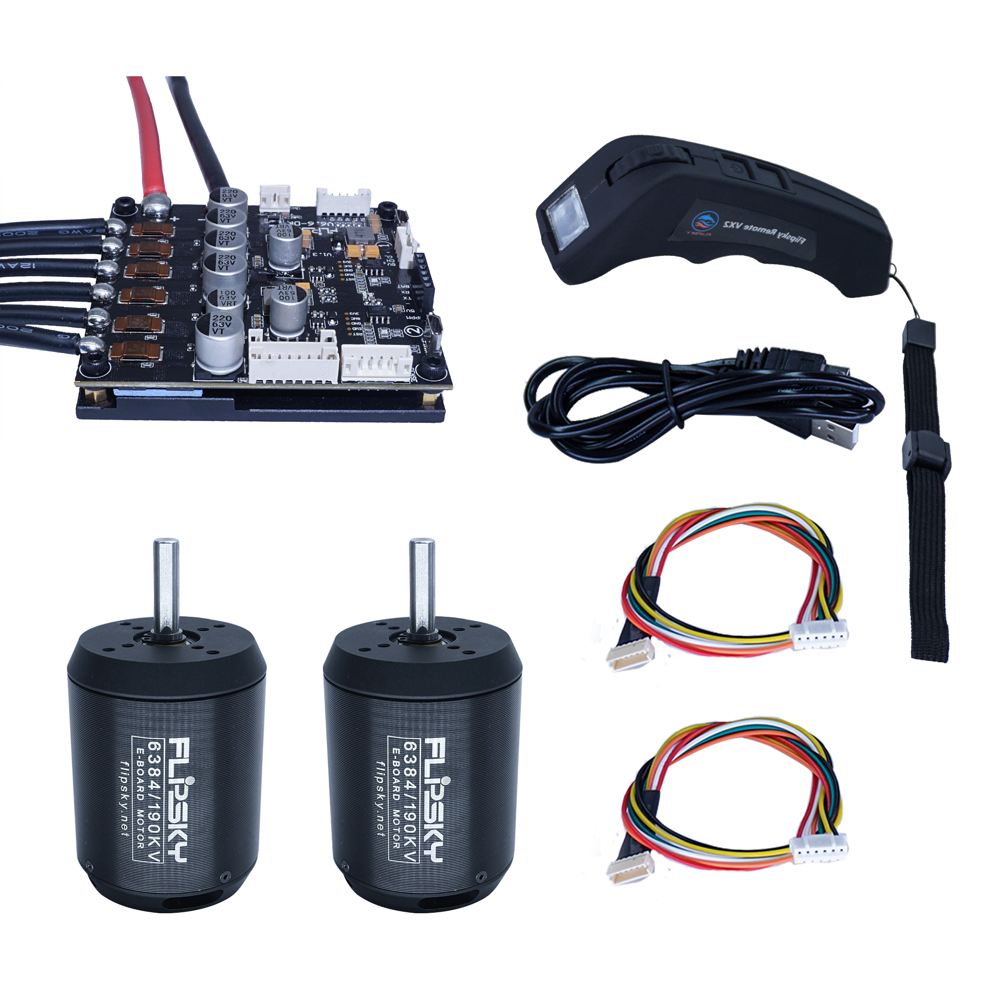 Sale Dual Drive Skateboard Motor + VESC 6.6 Plus + VX2 Screen Remote Eskateboard Speed Controller Hobby Kit 16% Off Group D8