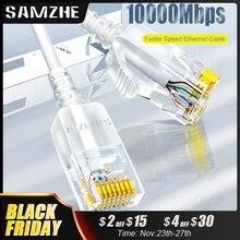 SAMZHE Cable Ethernet Cat6 Cat 6 A 10Gbps, Cable delgado de red para enrutador RJ45, TV box, cables LAN de red