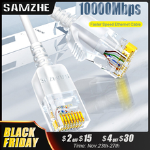 Samzhe Cat6イーサネットケーブルの猫6を10 5gbpsネットワークスリムケーブルRJ45ルータtvボックスネットワークlanコード