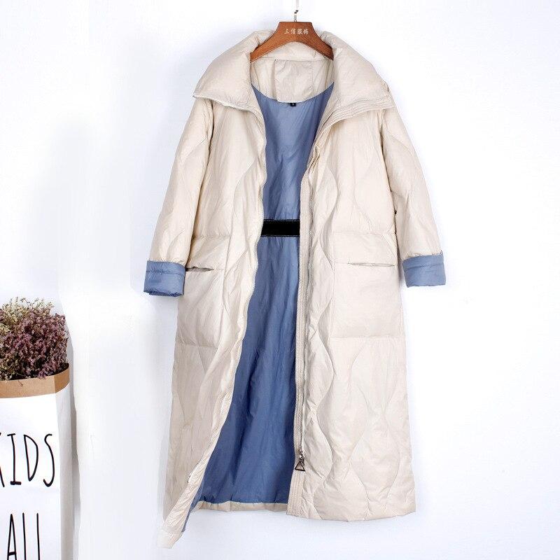 Women's Down Jacket Fashion Ultra Light Down Jackets Women Duck Down Coat Female Long Ladies Warm Winter Jackets LW1581