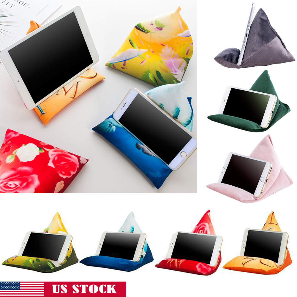 2020 Soft Stand Tablet Triangle Pillow Holder For IPad Tablet Phone Bracket US