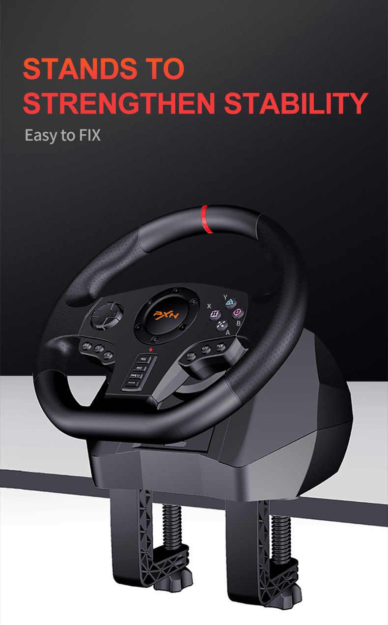 Игровой контроллер PXN V900 Sterzo Ruota Gradi, контроллер гоночного видео, геймпад для ПК/PS3/4/Xbox-One/Xbox 360/NS